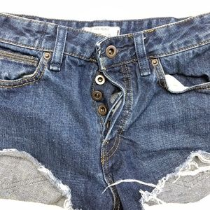 Free People Shorts Jeans Denim Cotton (M23)
